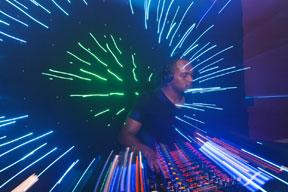 DJ with light show