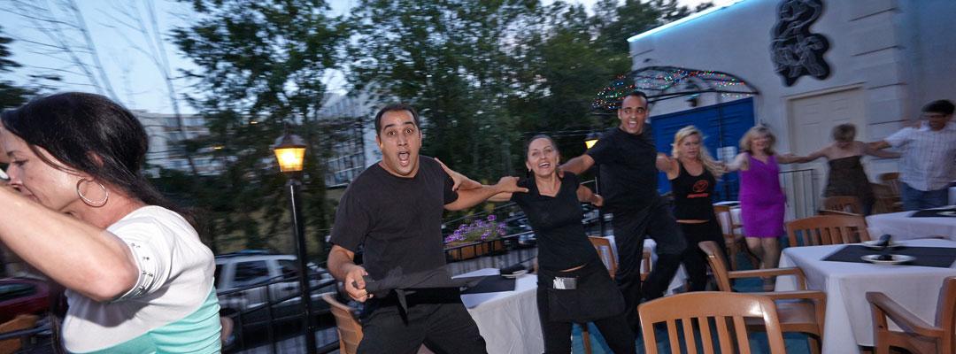 Dancing on the Taverna Plaka Patio